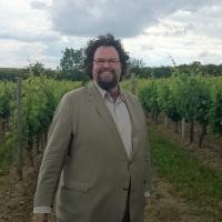Edward Blom i vingård i Rheinhessen HÖGUPPLÖST Foto: Gunilla Kinn Blom