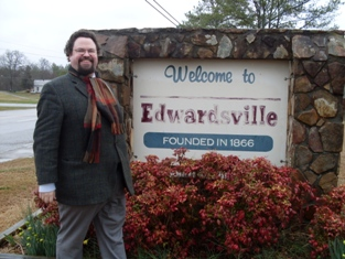 Edward Blom besöker Edwardsville
