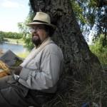 Edward Blom på picknick