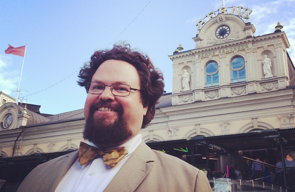 Edward Blom framför Berns. Foto. Gunilla Kinn.