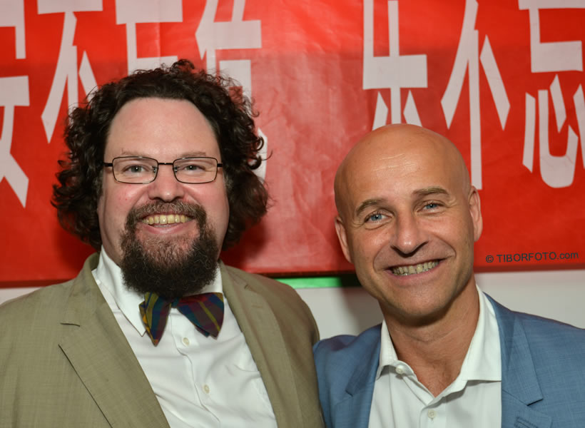 World Gourmand Awards, Peking 2014 Edward Blom och Richard Juhlin FOTO Tibor Bárány